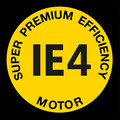 Super premium efficency Antriebsmotor IE4 Logo